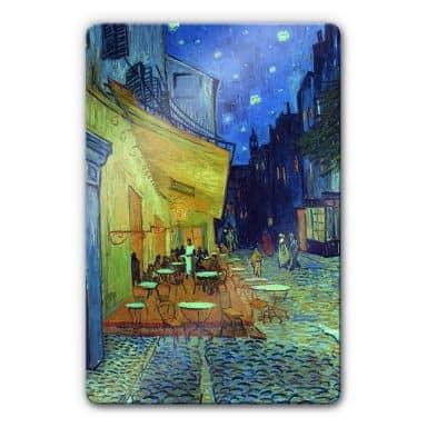 Vincent van Gogh - Café Terrace at Night Glass art