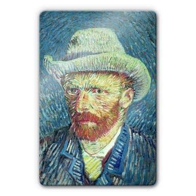 van Gogh - Self-portrait Glass art