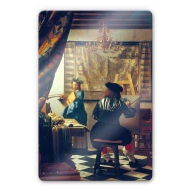 Tableau en verre Vermeer - La peinture