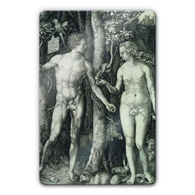 Glasbild Dürer - Adam und Eva