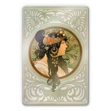 Mucha - The Brunette Glass art