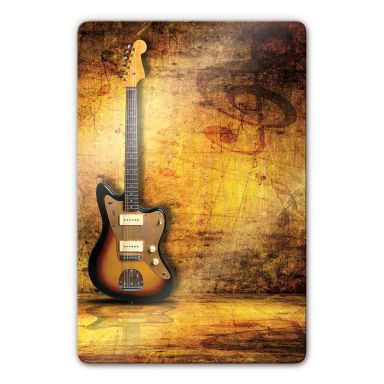 Glasbild Electric Guitar