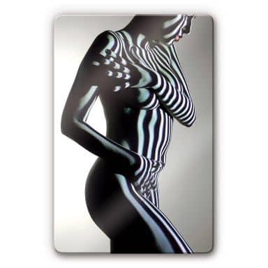 Glasbild Frau Aktfoto 1