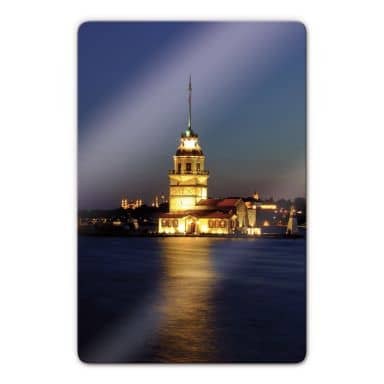 Glasbild Mädchenturm