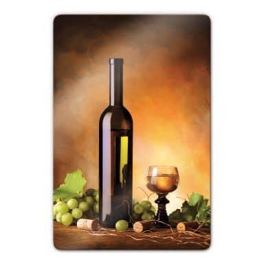 Glasschilderijen Witte Wijn