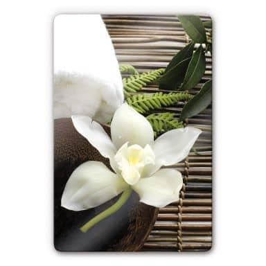Wellness orchid Glass art