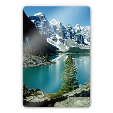 Mountain Lake Idyll Glass art