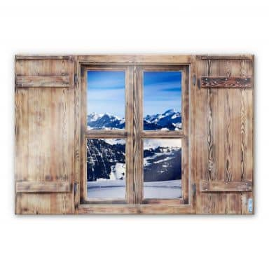 Trompe L'oeil Glass Print - The Alps