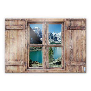 Trompe L'oeil Glass Print - Beautiful View