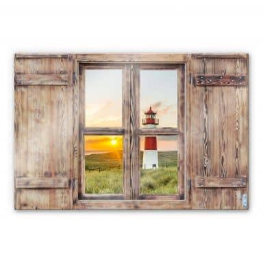 Glasschilderij Trompe L'oeil - Vuurtoren