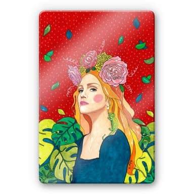Glasschilderij Hulya - Madonna