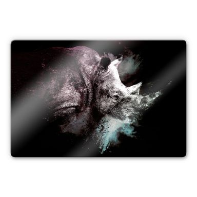 Glasbild Hugonnard - Wild Explosion: Nashorn