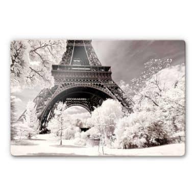 Glasschilderij Hugonnard - Winter in Paris
