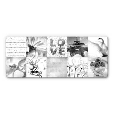 Glasbild Impressions of a girly Life - Panorama - - 100x40 cm