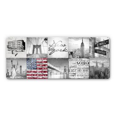 Glasbild Impressions of New York City - Panorama