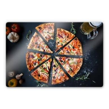 Glasbild Italienische Pizza