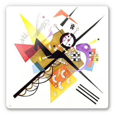 Glasbild  Kandinsky - Auf Weiss II