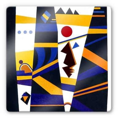 Glasbild  Kandinsky - Bindung
