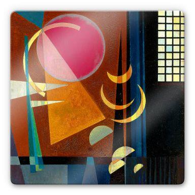 Glasbild Kandinsky - Scharf und ruhig