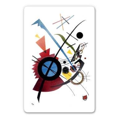 Glasbild  Kandinsky - Violett