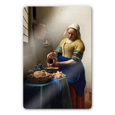 Glass Print Vermeer - The Milkmaid