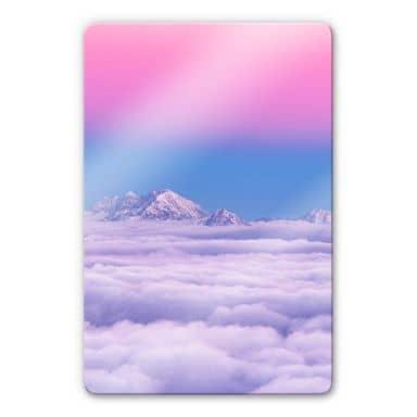 Glasbild Krivec - Pink in the sky