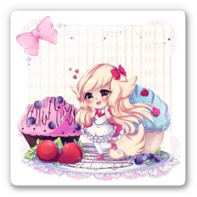 Glasbild La Doll Blanche - Chibi Belle