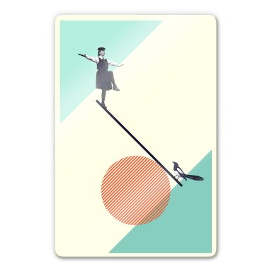 Glasbild Léon - B is for Balance