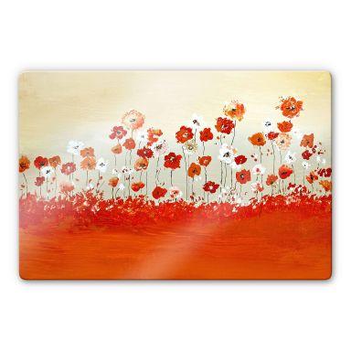 Glasbild Melz - Fröhliche Blumen