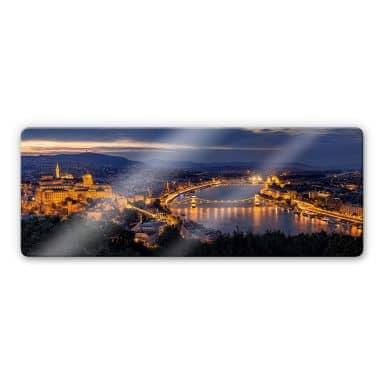 Glasbild Mørkeberg - Budapest