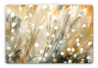 Glass Print Niksic - Dandelions