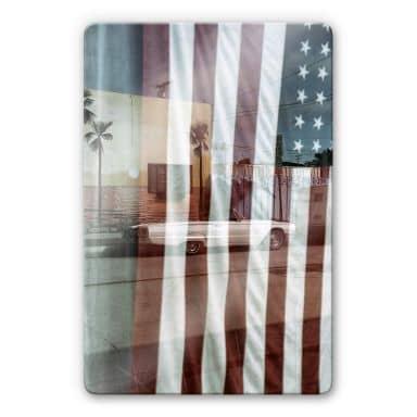 Glasbild Ochlich - American Reflection