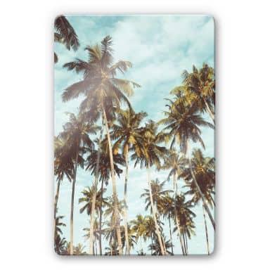 Glass Print Palm Trees 08