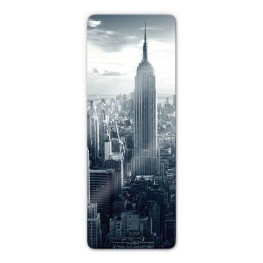 Glasschilderijen Empire State Building -  panorama