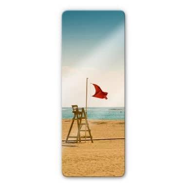 Glasbild Rote Fahne - Panorama