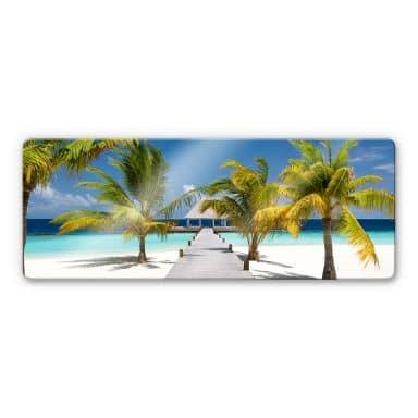 Glasbild Der Weg ins Paradies - Panorama