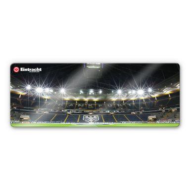 Glasbild Eintracht Frankfurt Nacht - Panorama
