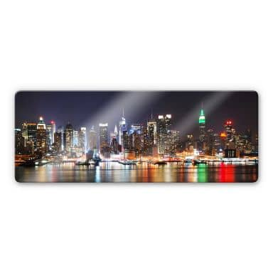 New York Skyline - Panorama Glass art