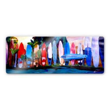 Bleichner - Surf Wall - Panorama Glass art