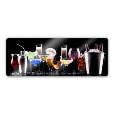Cocktail Feeling Glass art - Panorama