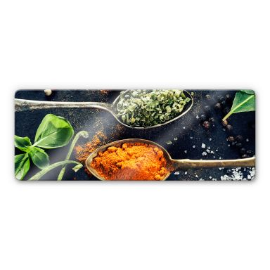 Herbs diversity 03 Glass art - Panorama