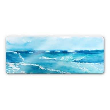 Toetzke - Sound of the sea 02 Glass art - panorama