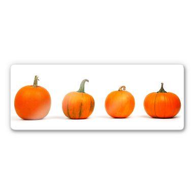 Pumpkins Glass art - panorama