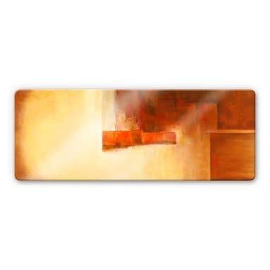 Glasbild Schüßler - Orange-Brown Balance