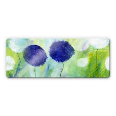 Glasbild Niksic - Allium Purpur - Panorama