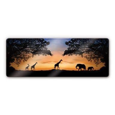 African Sunset Glass art