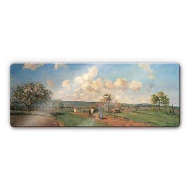 Glasschilderijen Camille Pissarro - Lente - panorama