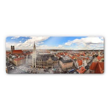 Glasschilderijen Skyline van Munchen - panorama