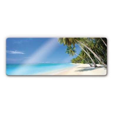 Glasbild Paradise - Panorama