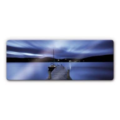 Silent Lake Glass art - Panorama